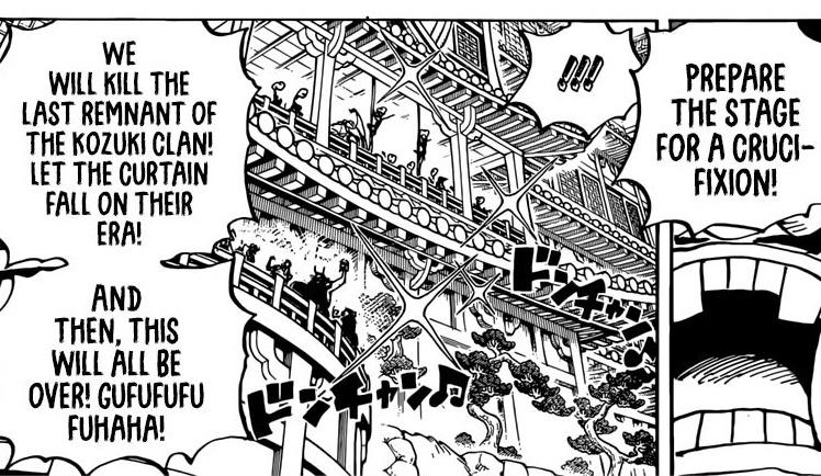 One Piece Chapter 982 Orochi Orders Momonosuke's Execution
