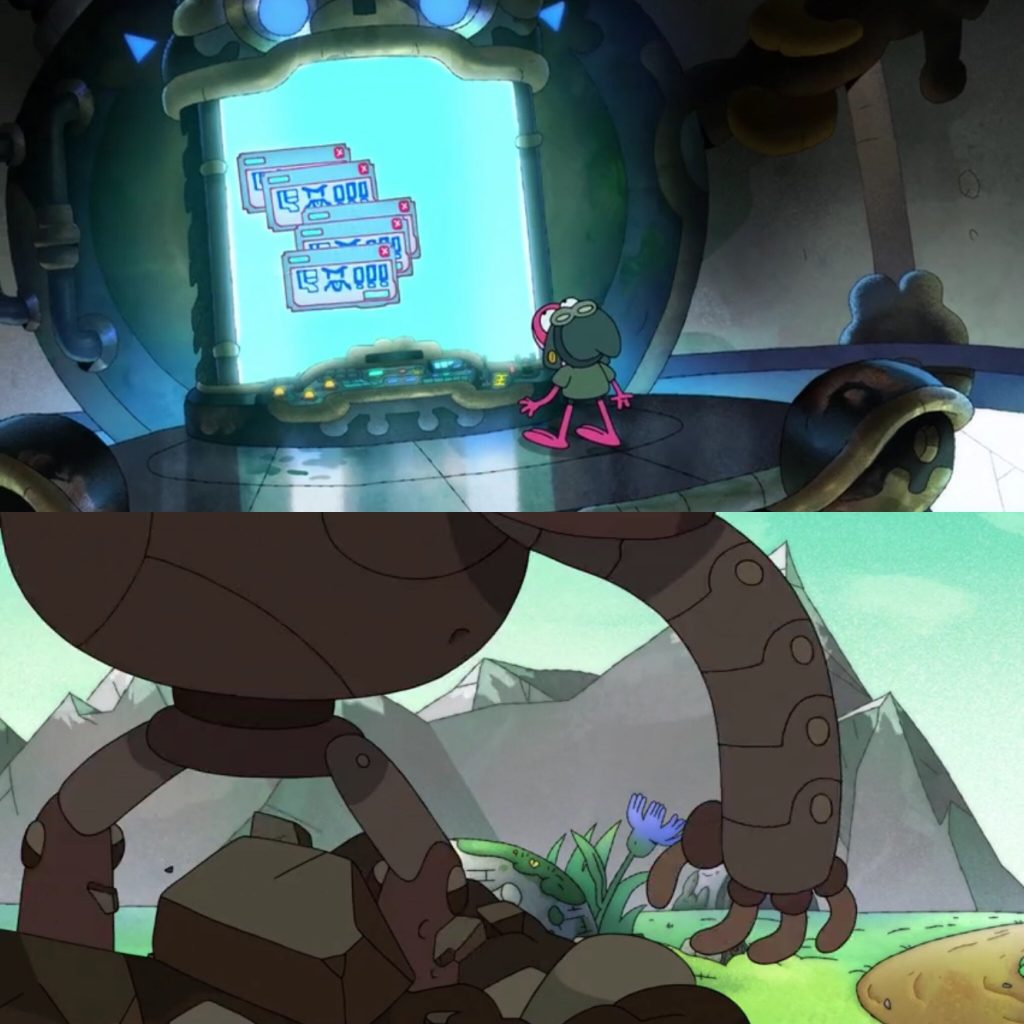 Amphibia Season 2, Episodes 1B, The Fort in the Road and Giant Robot