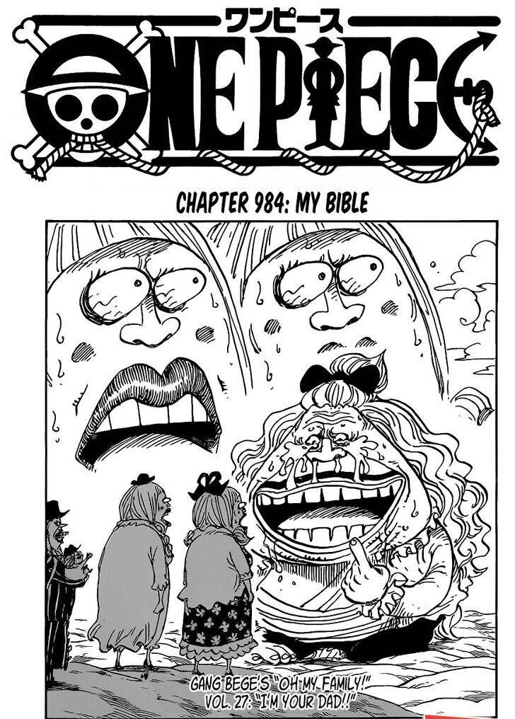 One Piece Chapter 984 Cover Page