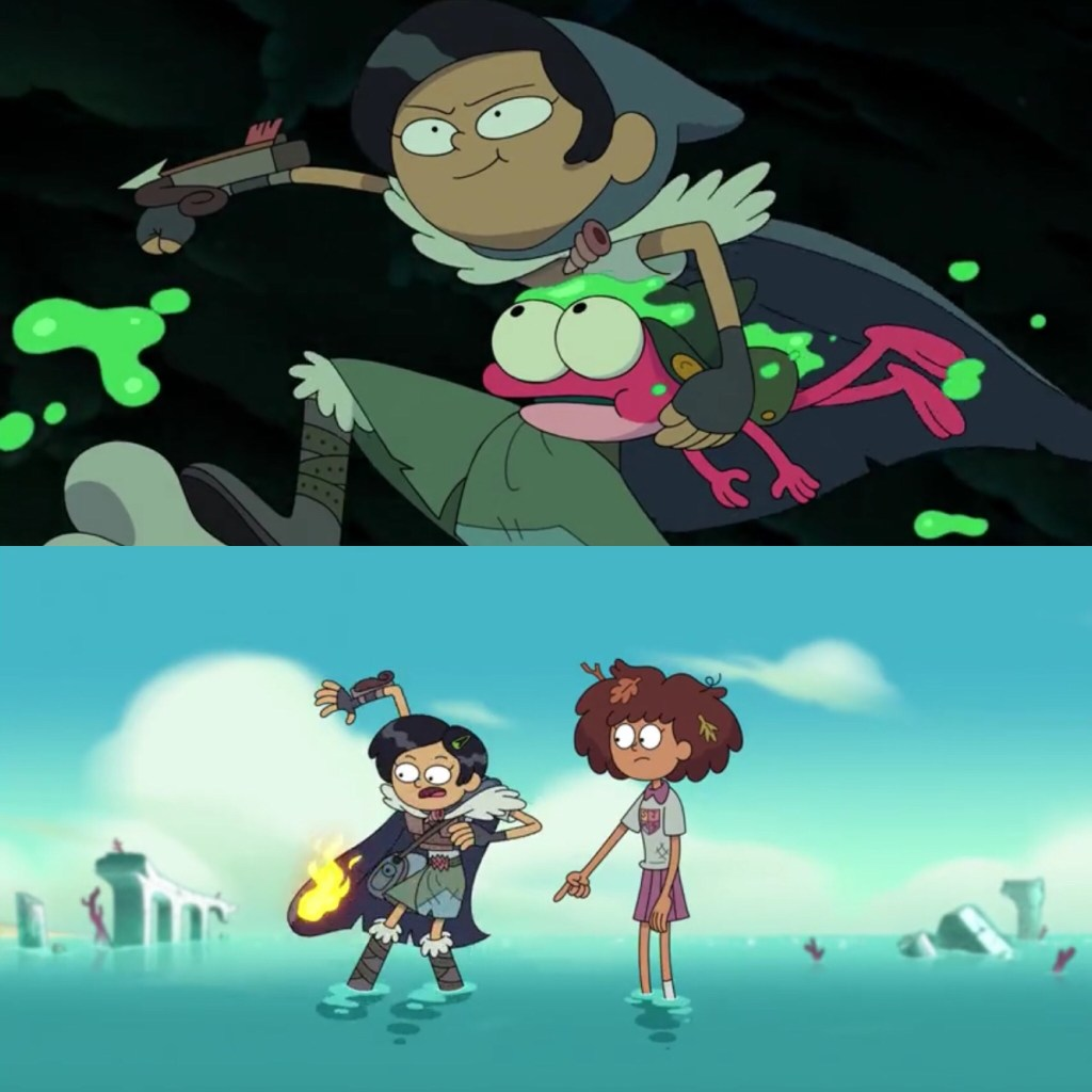 Amphibia Season 2 Episode 6-Marcy: now a badass, still clumsy as ever