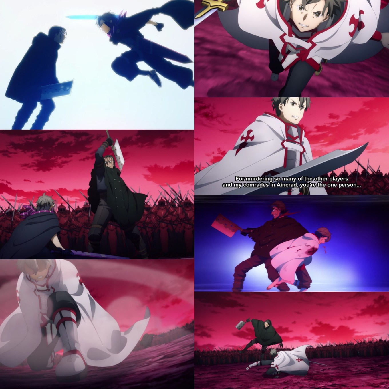 Sword Art Online: Alicization- War of Underworld Episode 41- Ordinal Scale's Best vs. PoH