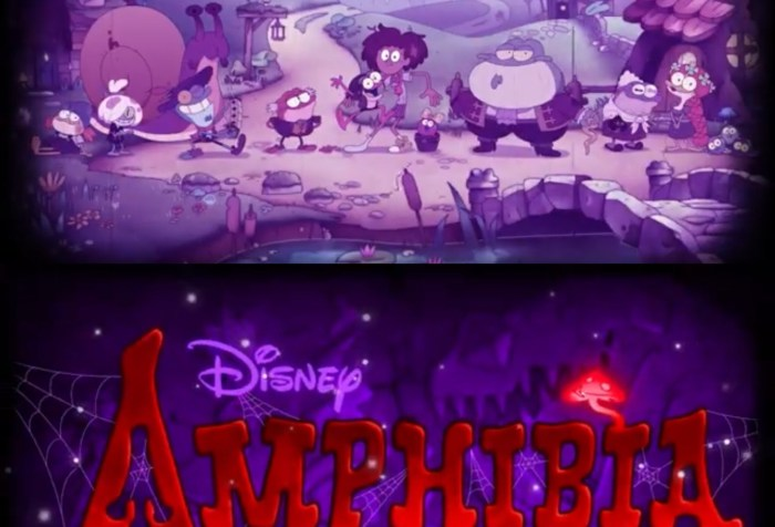 Amphibia Season 2 Episode 11- The Shut In Halloween Title Card