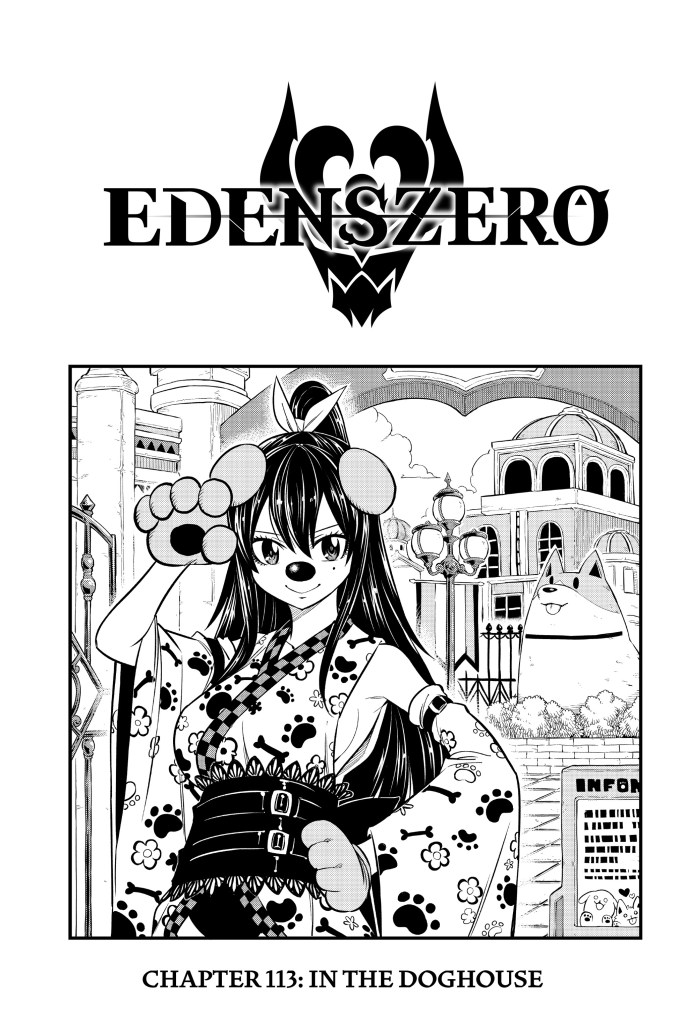 Edens Zero Chapter 113 Cover Page- In the Doghouse