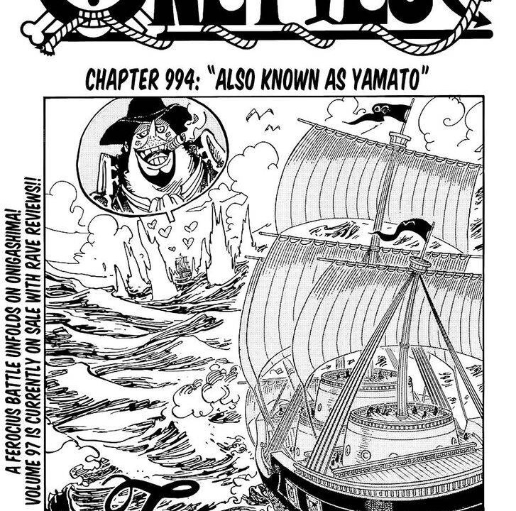 One Piece Chapter 994 Cover Page