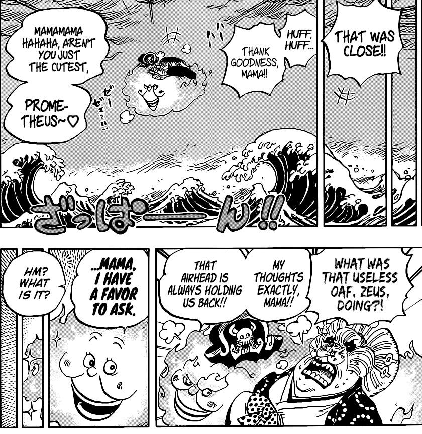 One Piece Chapter 1010-Prometheus Saves Big Mom