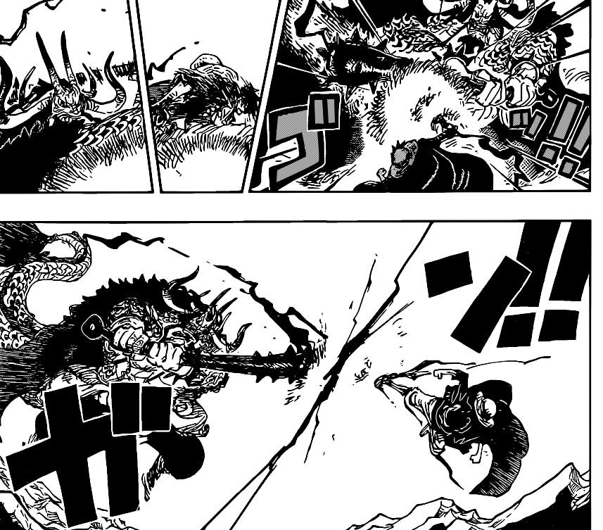 One Piece Chapter 1011-Kaido and Luffy Round Two