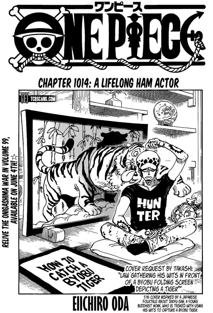 One Piece Chapter 1014 Cover Page