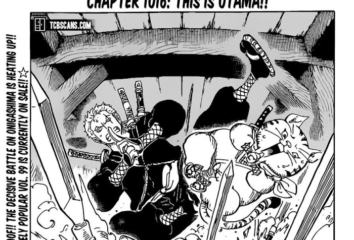 One Piece Chapter 1016 Cover Page
