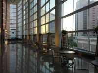 The atrium of the Texas Heart Institute