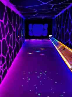 Inside a hall of the Adler Planetarium