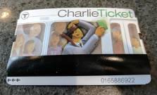 My 1-day MBTA Charlie Ticket