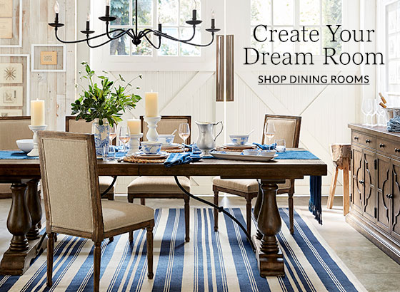 Image result for pottery barn dining room