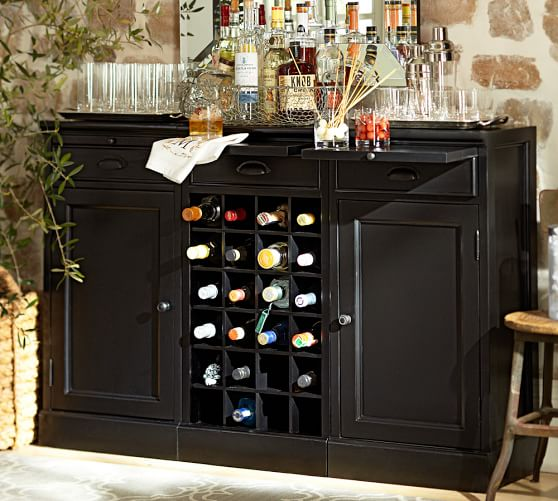 Modular Bar Buffet With 2 Cabinet Bases Amp 1 Wine Grid Base