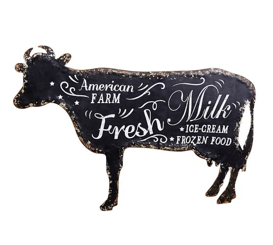 Wall Art Pottery Picture Barn Cow