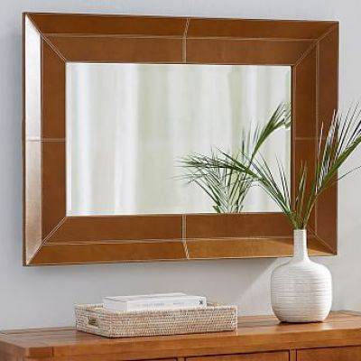 Stitched Leather Mirror