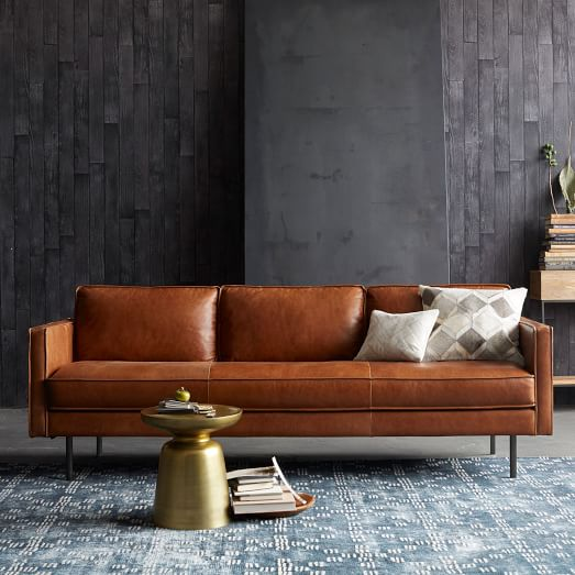 Sectional Couch Leather Tan