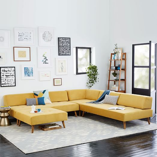 Retro Tillary 6 Piece Sectional West Elm : tillary sectional - Sectionals, Sofas & Couches