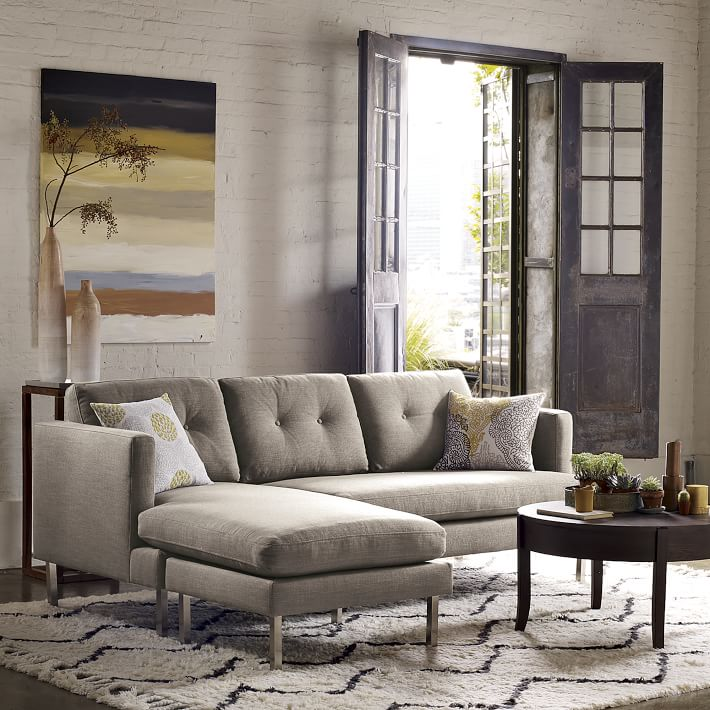 jackson 2 piece chaise sectional west elm : west elm jackson sectional - Sectionals, Sofas & Couches