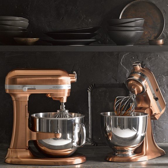 Copper Home Decor Williams Sonoma Copper Coated KitchenAid Stand Mixer