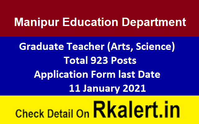 Manipur Education Department Recruitment 2021 Graduate Teacher Vacancy Form