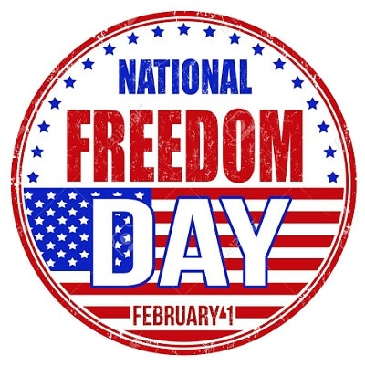 Happy National Freedom Day USA Logo HD images 2021