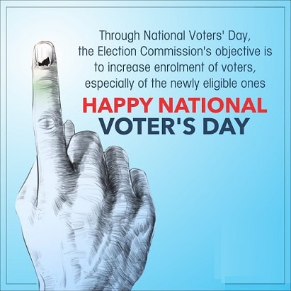 Matdata Diwas Ki Photo Drawing Poster on National Voters Day