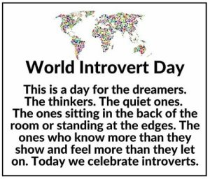 Photo Pics images World Introvert Day 2021 For Social Media Post