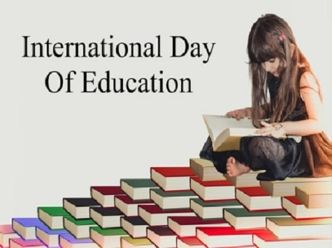 Poster on World Education Day Happy International Education Day images