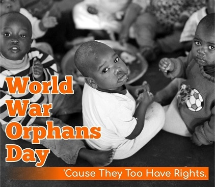 World War Orphans Day Wishes New Latest Picture images