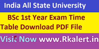 BSC 2nd Time Table