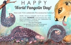World Pangolin Day Photo Poster images Picture
