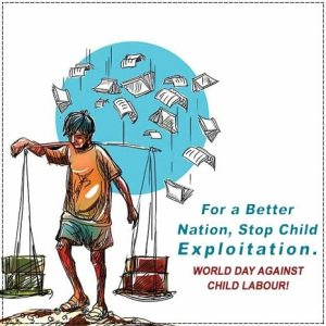 Stop Child Labour Poster With Slogan Child Labour Day Poster Drawing