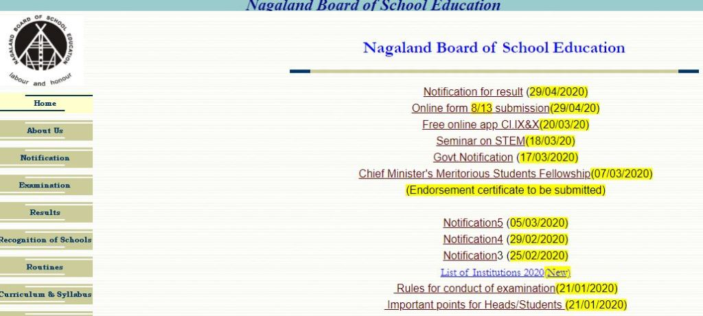 NBSE HSSLC Result 2020 Nagaland Board 12th Class Results Roll No wise Name Wise nbsenagaland.com