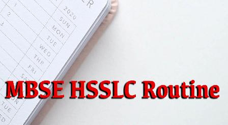 MBSE HSSLC Routine 2021