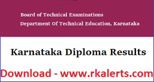 DTE Karnataka Diploma Result 2021