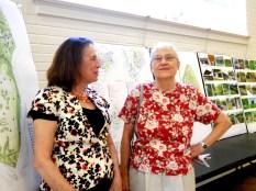 Helen Flamini and Karen Lilleleht, McIntire Botanical Garden Secretary