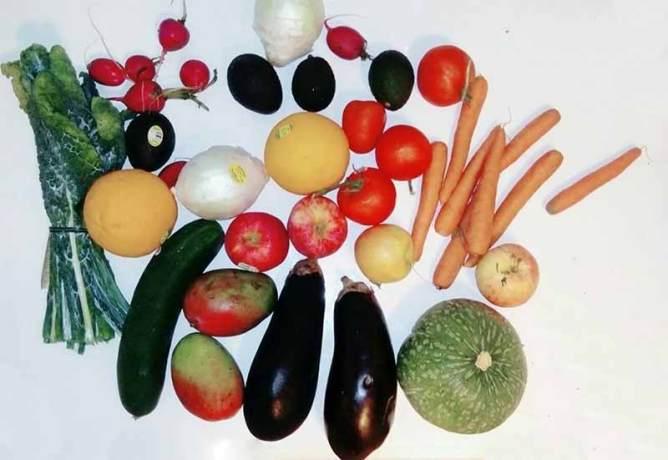 実際に配達された野菜