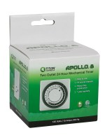 Titan Controls® Apollo® 8 – Two Outlet Mechanical Timer