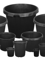 2 Gallon Black Bucket