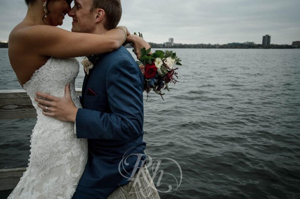 Fall wedding Lake Calhoun