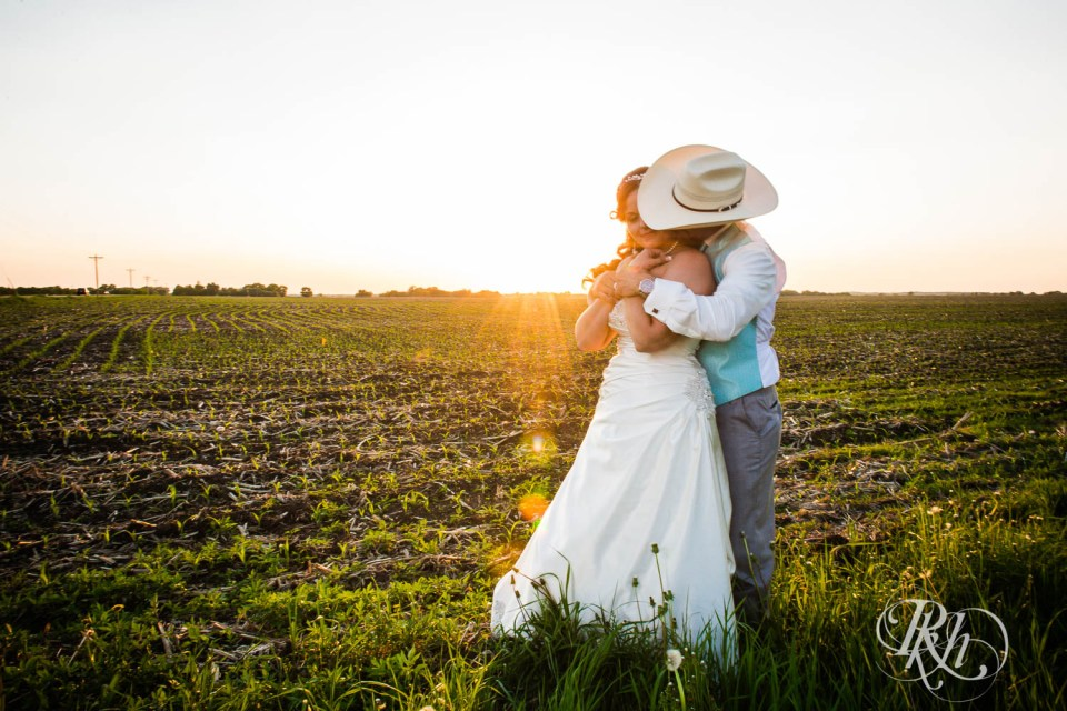 Rustic wedding sunset photography