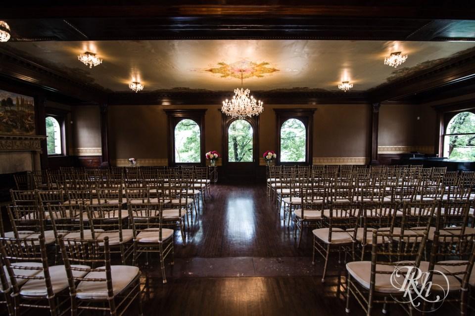 Semple mansion ceremony setup