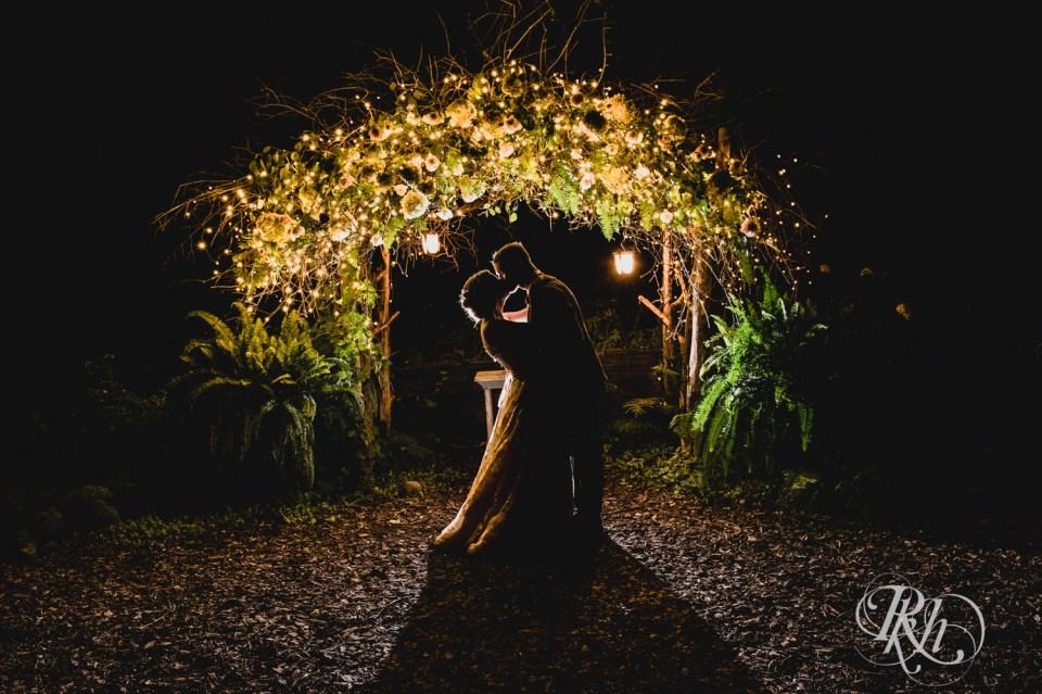 Backlit night photo at Stillwater wedding