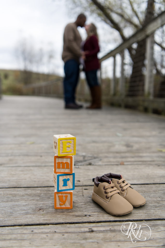 baby blocks and shoes