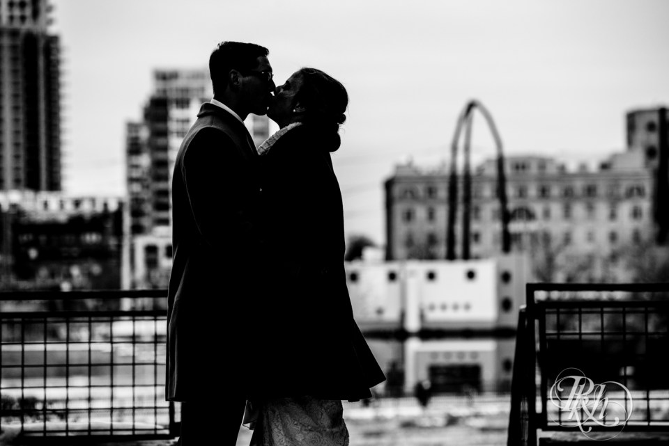 Winter wedding photography silhouette