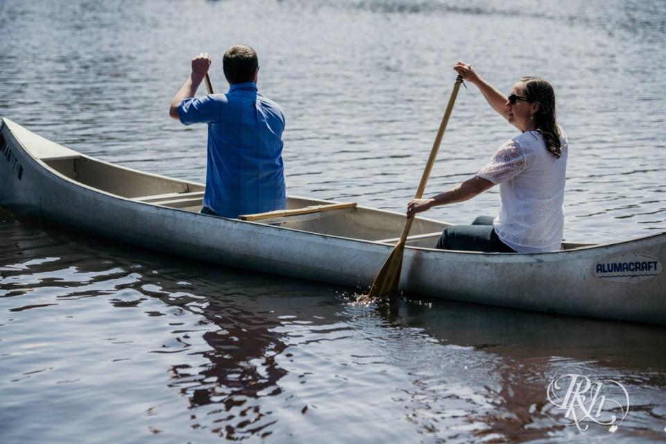 canoe engagement photography