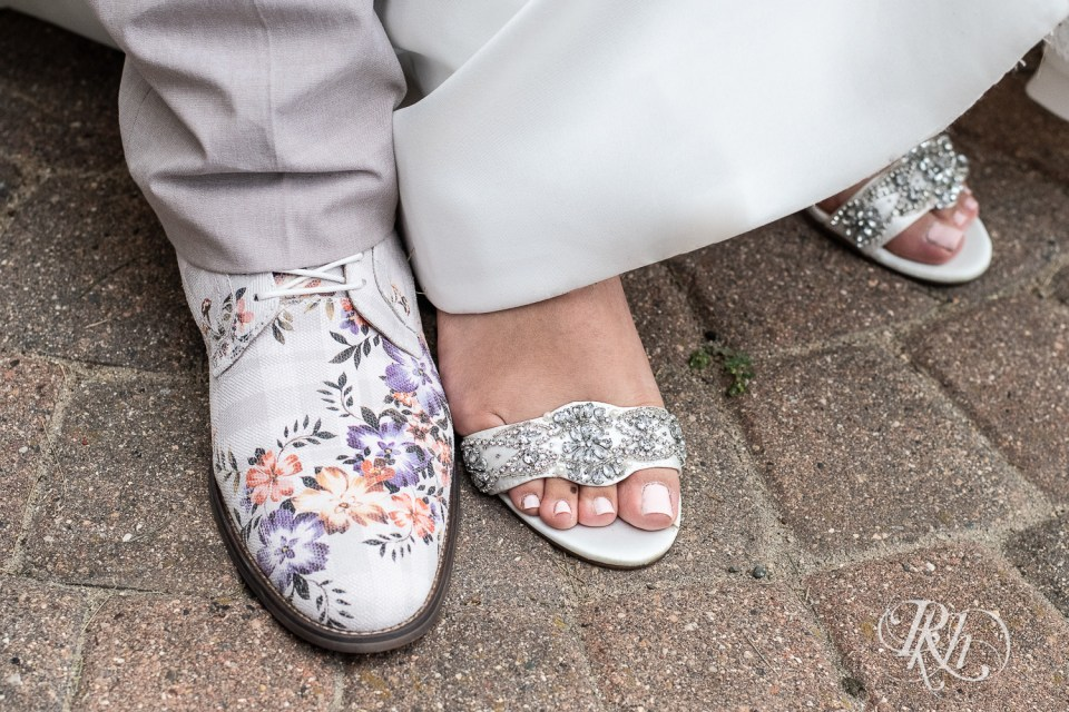 Wedding bride and groom shoes