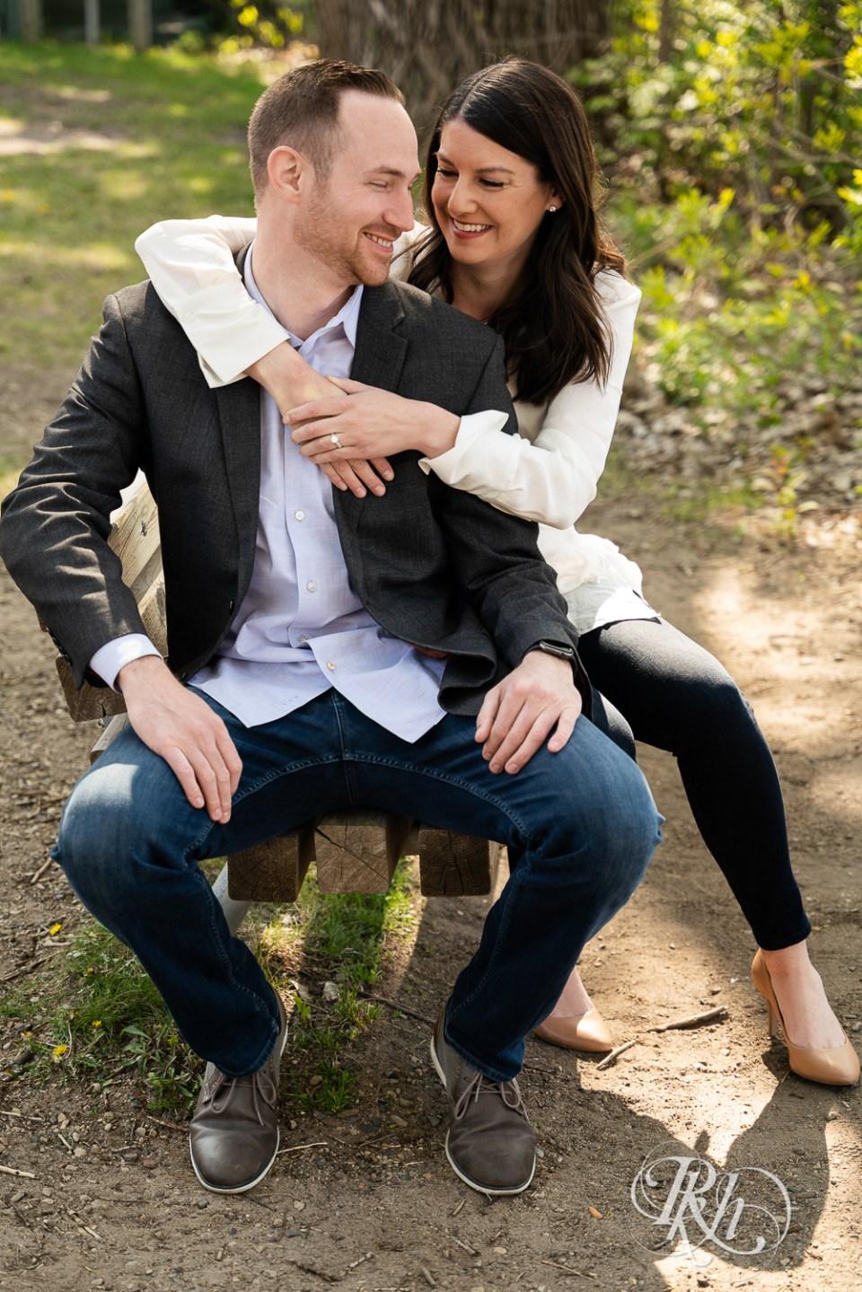 saint anthony main engagement photos couple sitting