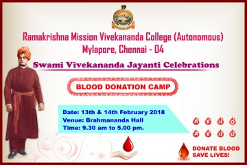 Blood Donation Camp – Commemoration of the 125th Anniversary of Swami Vivekananda's Historic Speech in Chicago