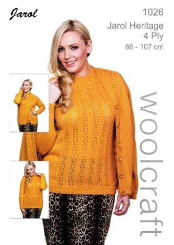 1026 4Ply Womes Sweater and Cardigan